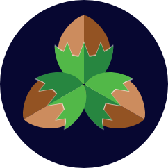 3 Haselnuss Badge